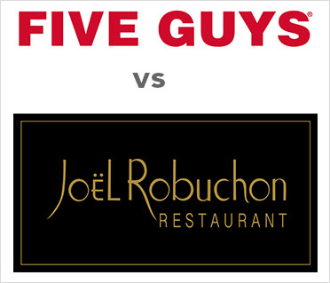 five guys compared to joel robuchon