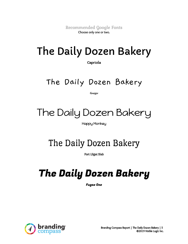 typeface recommendations