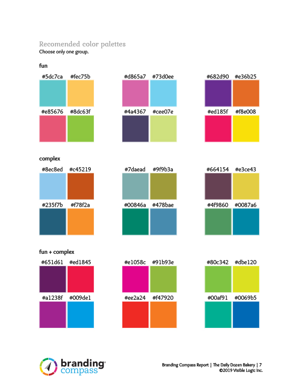 branding compass color recommendations