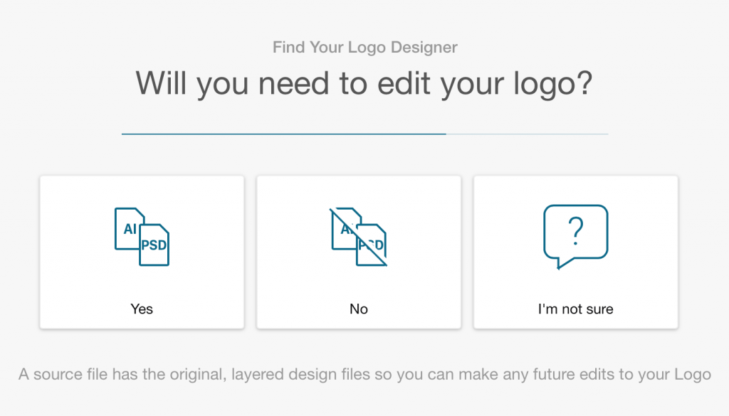 Fiverr screenshot: Will you need to edit your logo?