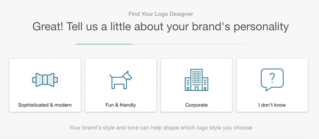 Fiverr Brand Personality logo design screenshot
