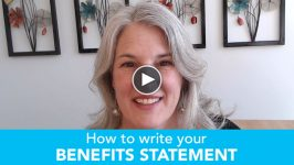 How to write about your benefits