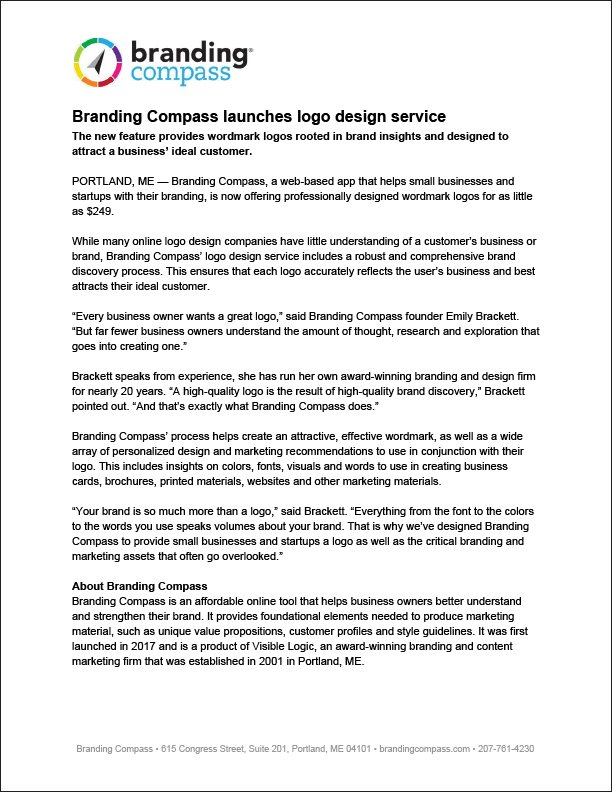 Branding Compass launches logo design service