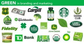 brands that use green in their logos, branding, packaging