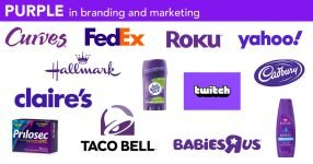 Best purple logos and branding