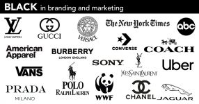 best black logos and branding