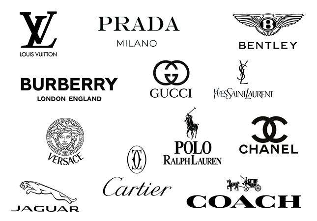 best black luxury brand logos