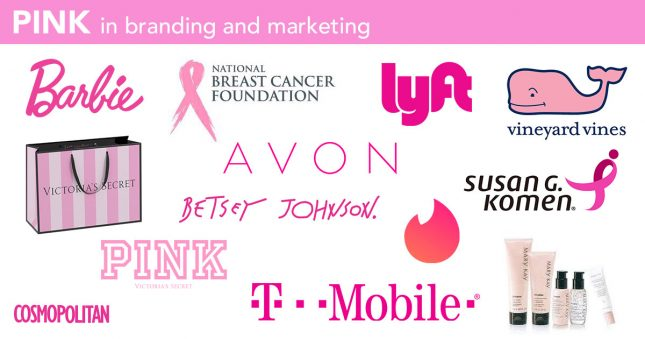 The best pink logos and branding