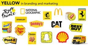 best yellow logos, branding, packaging and marketing