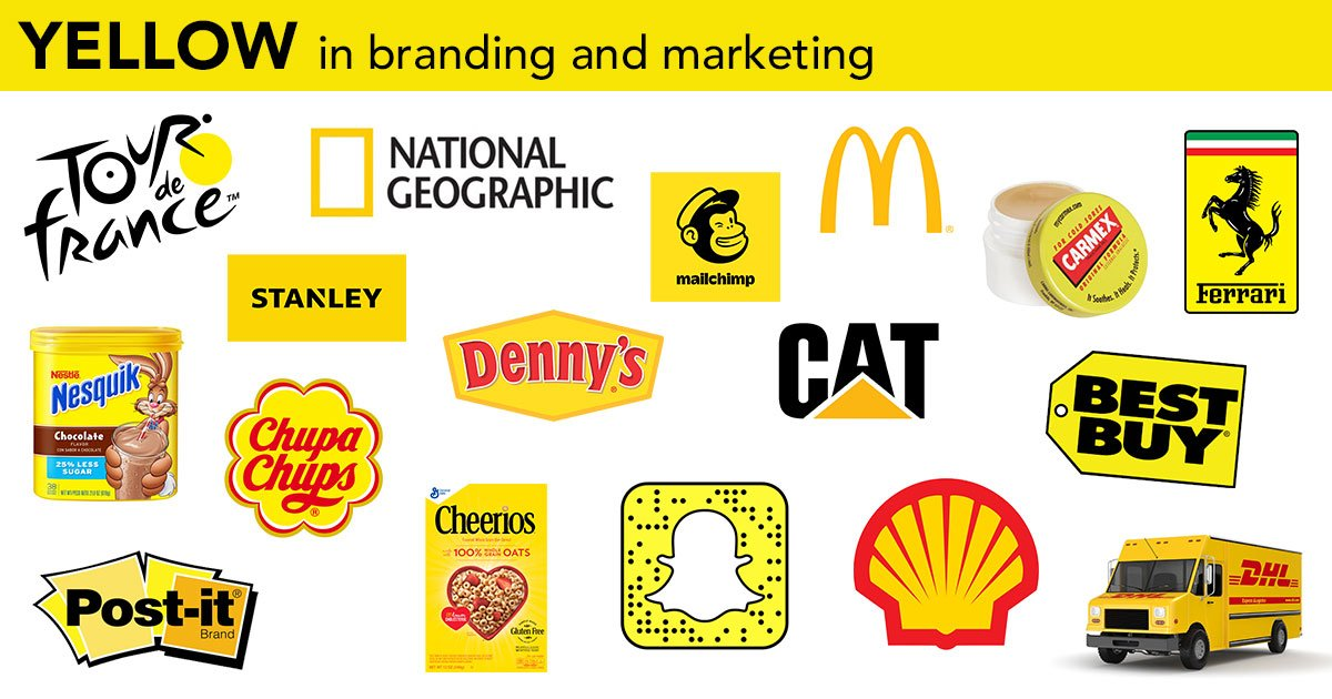 best yellow logos, branding, packaging and marketing