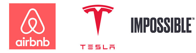 Examples of modern, innovative brands: AirBnb, Tesla, Impossible