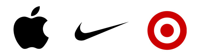 Iconic, minimalist logo designs