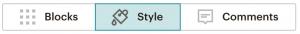 Mailchimp style menu