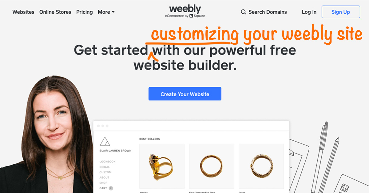 How to customize your Weebly site