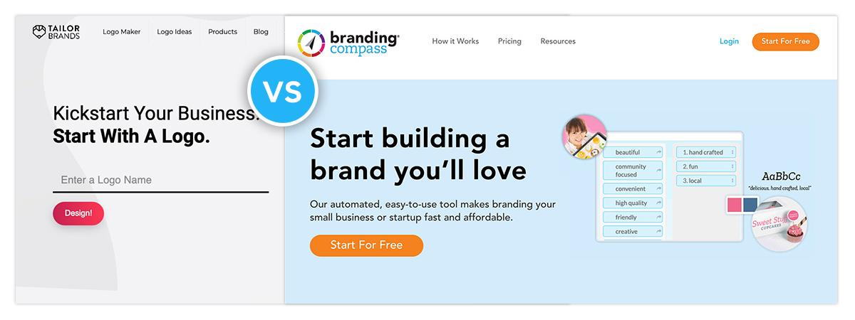 Tailor Brands vs. Branding Compass