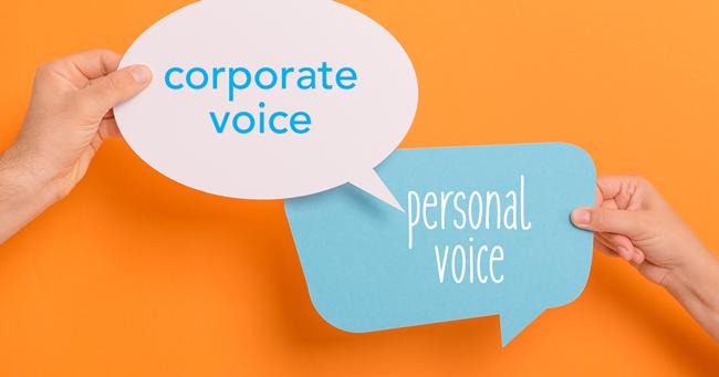 personal vs corporate brand voice